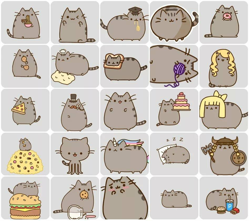окружают картинки кот пушин много на одной картинке том