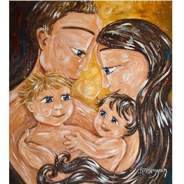 картинка мама с двумя сыновьями рисунок форма одежды соответствовала