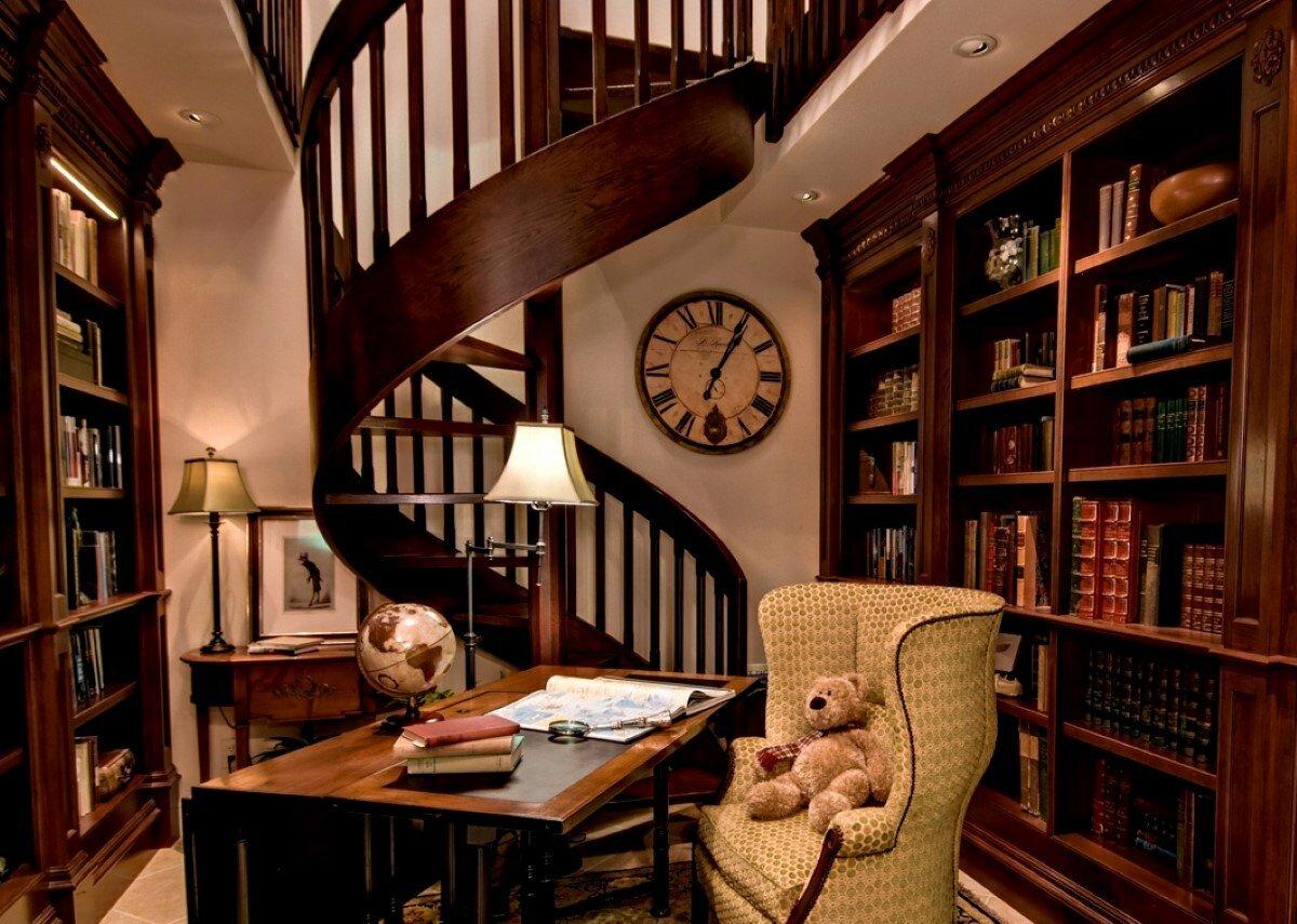 Оформление домашней библиотеки картинки