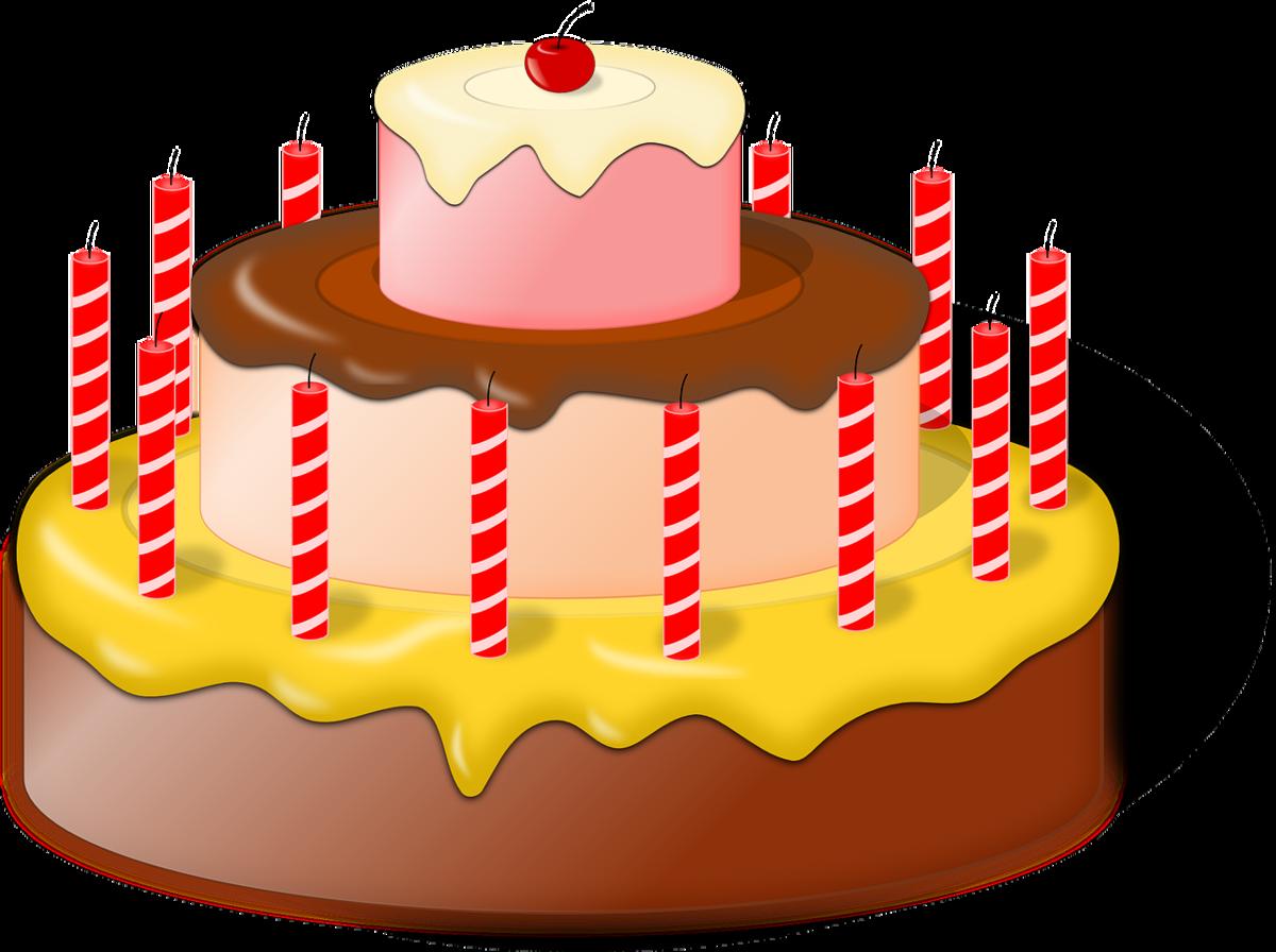 Картинки торта со свечами без фона