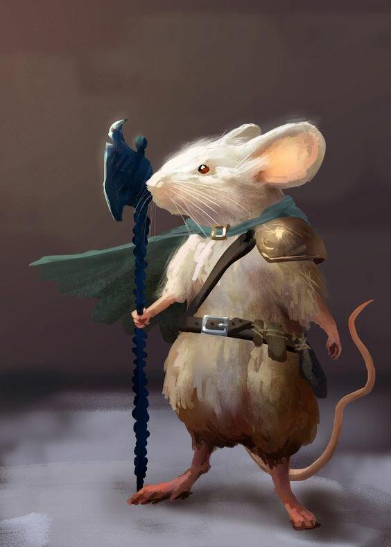 Картинка мышь с топором