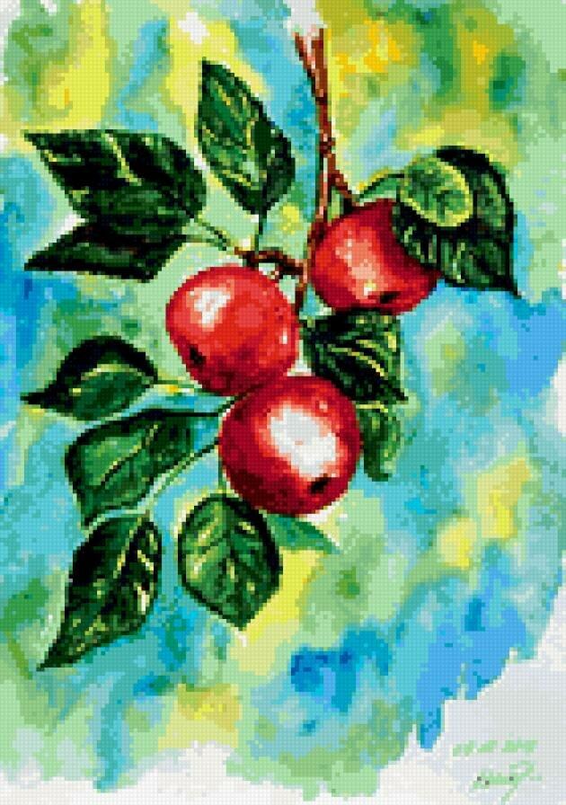 «Как нарисовать ветку с яблоками карандашом поэтапно ...