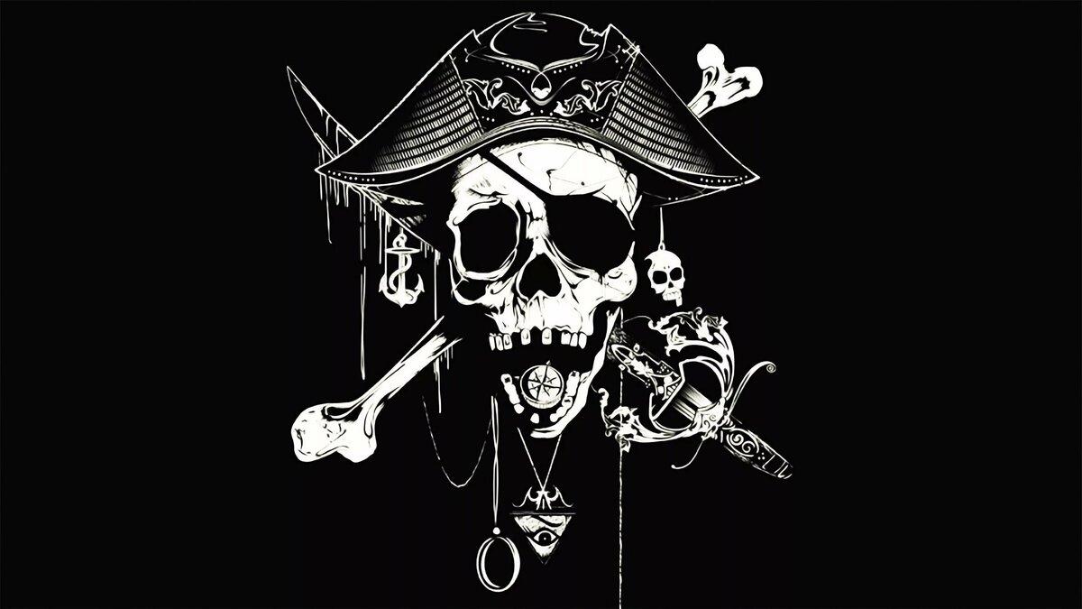Шарики с картинками пиратов