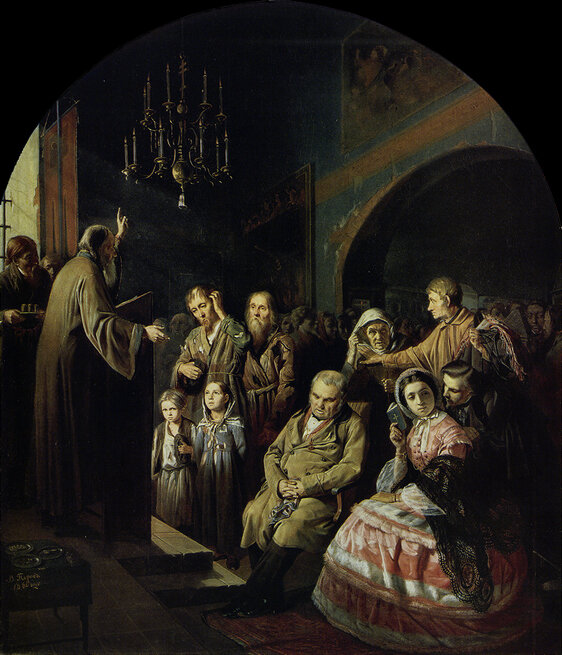 Василий Перов. Проповедь на селе