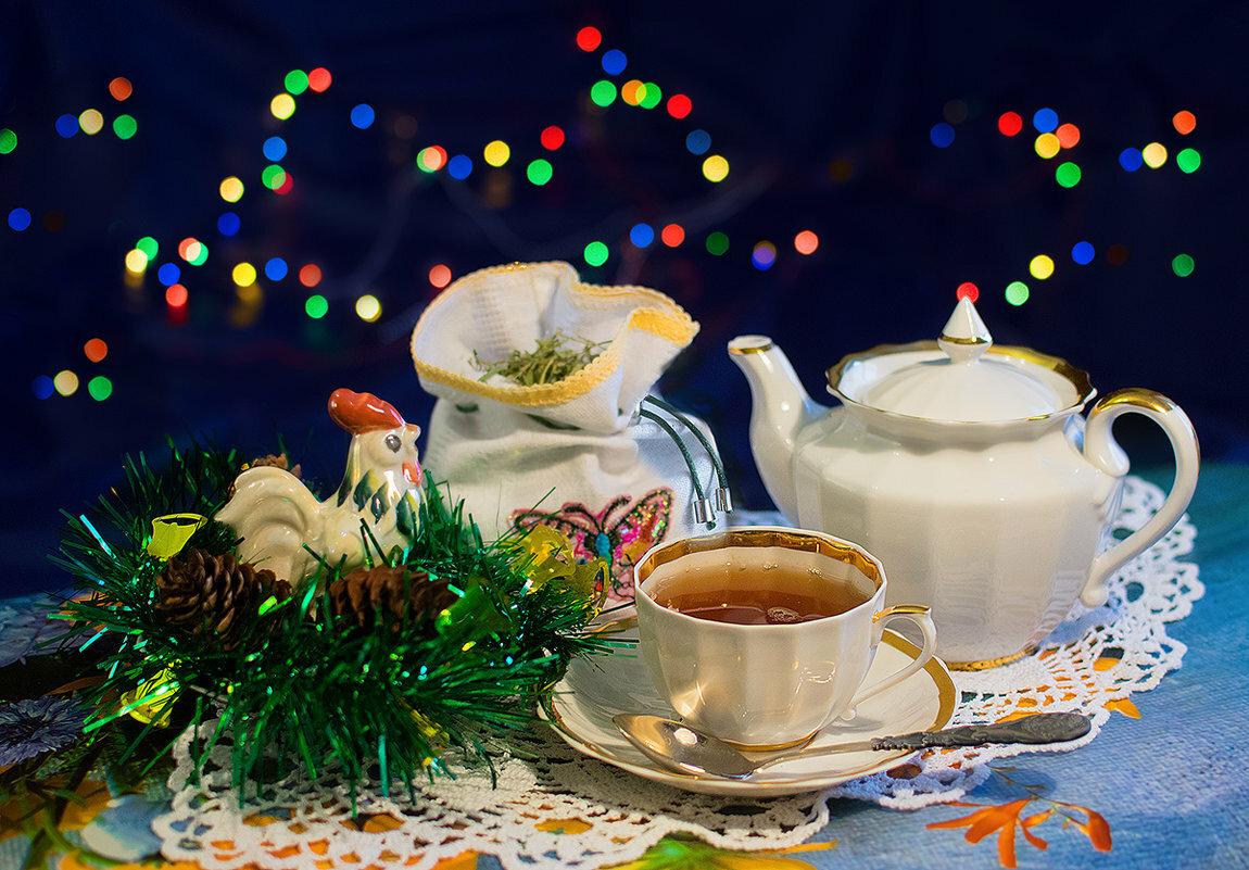 зимние картинки с чаем и елкой