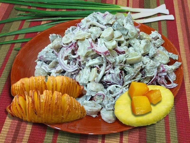 рецепты салатов из свинины с фото пошагово
