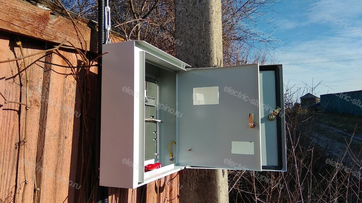 Установка электрощита IEK ЩУ 3/1-1 на 15 кВт