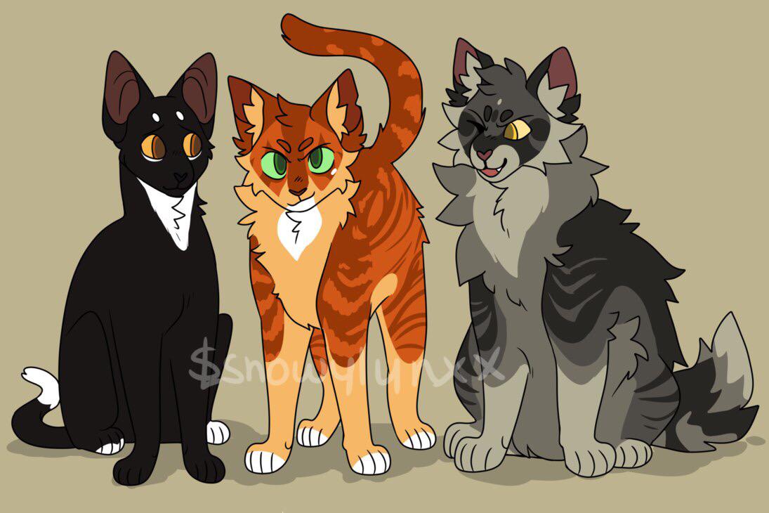 Картинки котов воителей предводители