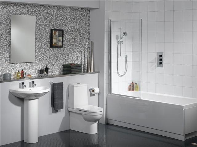 Вид дизайна ванной комнаты