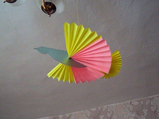 Сделать птицу счастья из бумаги своими руками 672