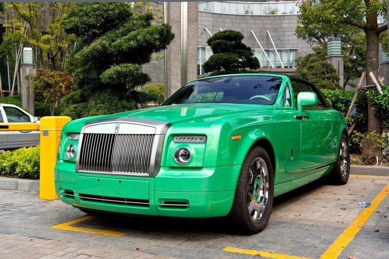 Зеленый Rolls-Royce Phantom, ШанÑай