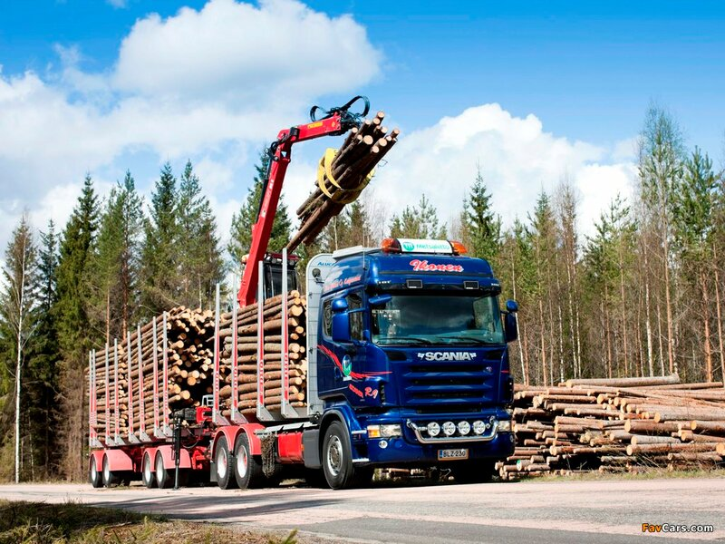 Scania R620 6x6 Highline Timber Truck