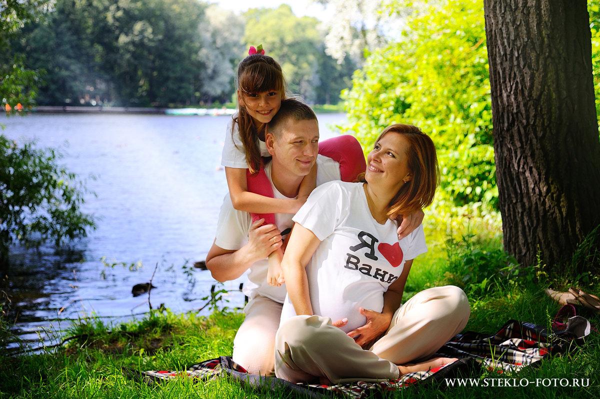 Фото беременных с ребенком