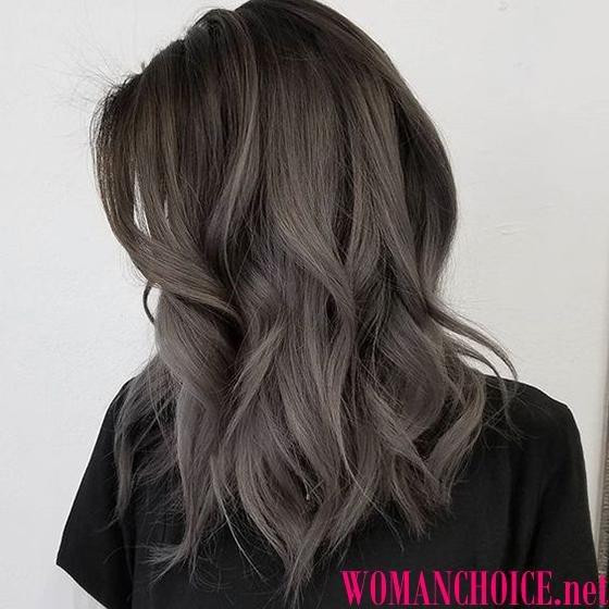 Цвет волос серо-пепельный