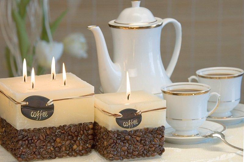 Как сделать свечи дома из кофейных зерен