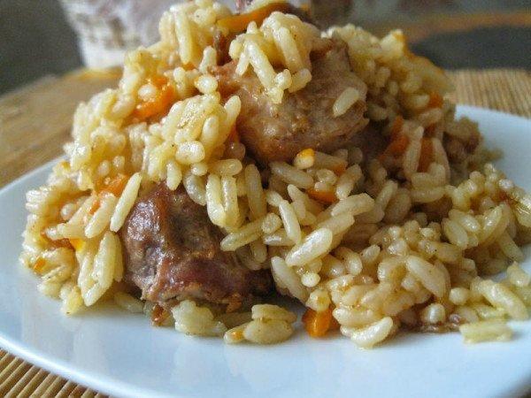Рис со свининой рецепт с фото