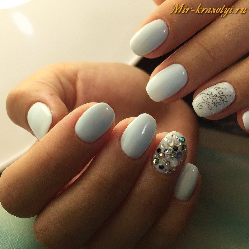 фото дизайн белый ногтей