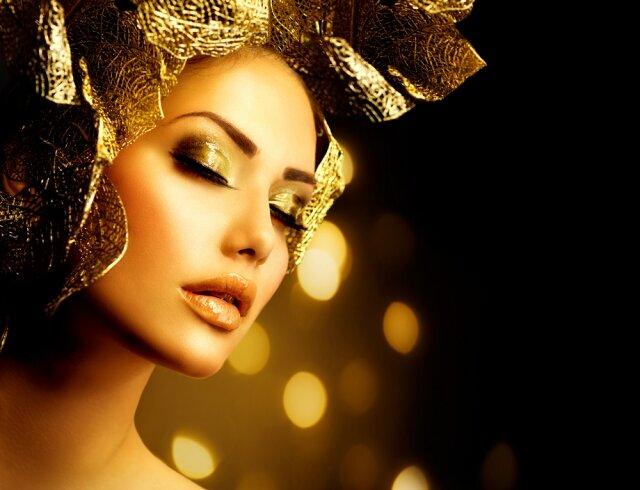 Секреты и особенности золотого макияжа.