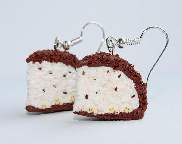 Серьги - Кусочек торта