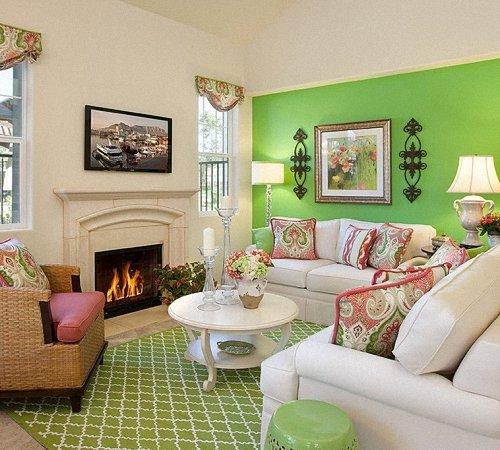 Гостиная в зеленом цвете: интерьер в зеленых тонах | Строительный портал