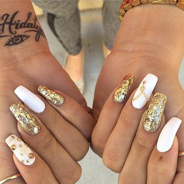 фото ногтей дизайн с золотом