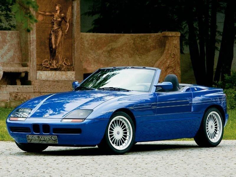 Alpina Roadster Z1 – родстер S-класса, задний привод. Механика. Бензиновый двигатель мощностью 200 лошадиных сил.