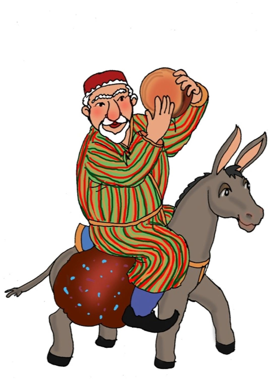 Картинка узбекского деда мороза