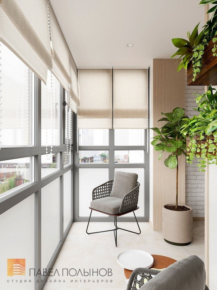 """Лоджия в проекте """"дизайн-проект квартиры 72 кв.м., жк """"дом н."""