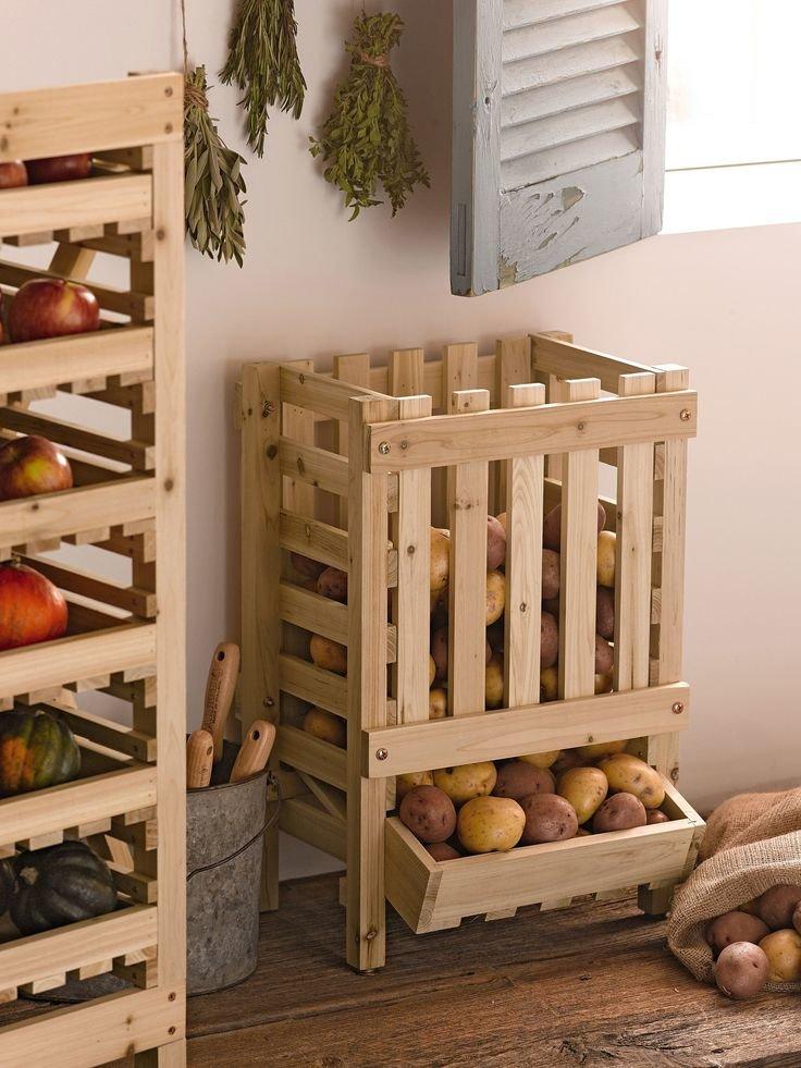"""Ящик для хранения картофеля своими руками из досок"""" - карточ."""