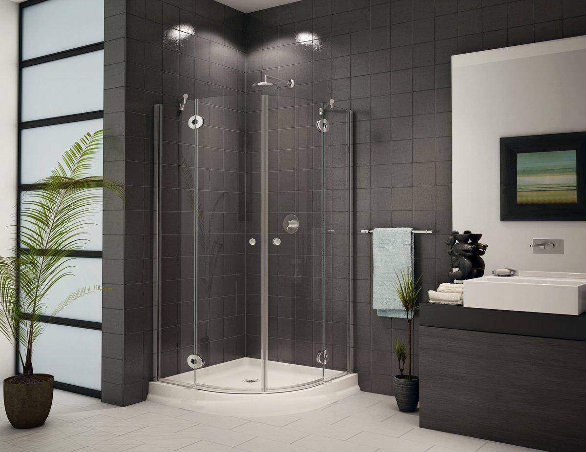 Плитка для маленькой ванной серого цвета