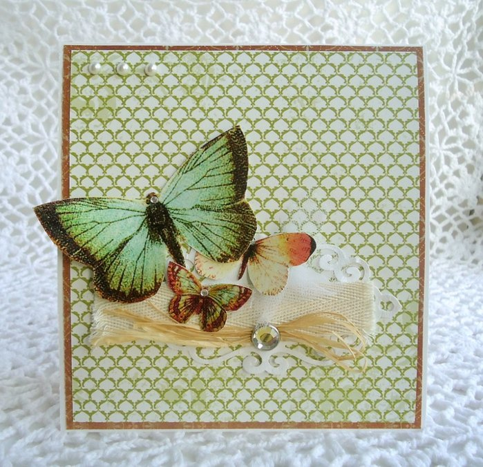 Бабочка для открытки своими руками мастер класс