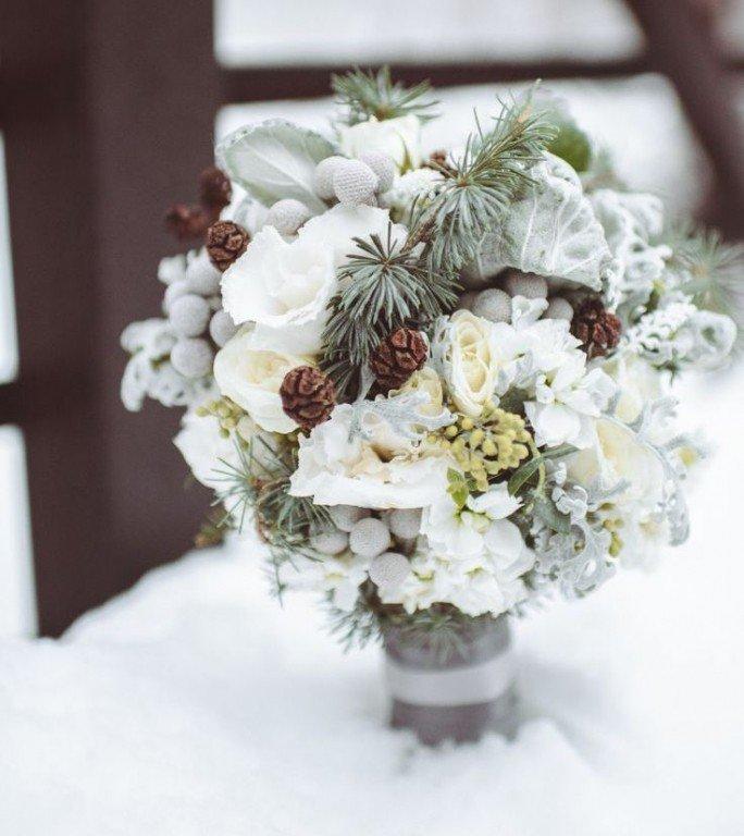 Идеи для зимний букет невесты своими руками
