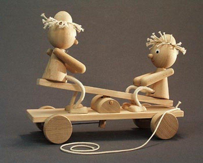 современные куклы из дерева былы франтавік, які