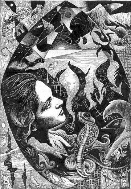 Абстрактный рисунок тушью