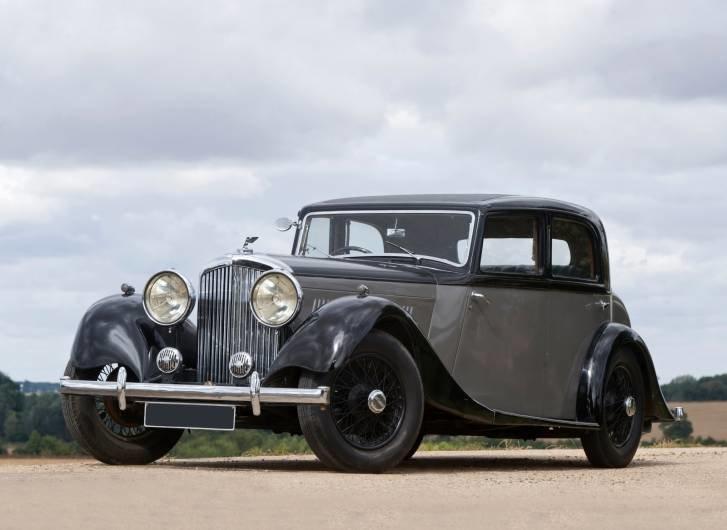Bentley Litre Sports Saloon 1935 фото авто - Ретро автомобили - Фотографии автомобилей, картинки, обои