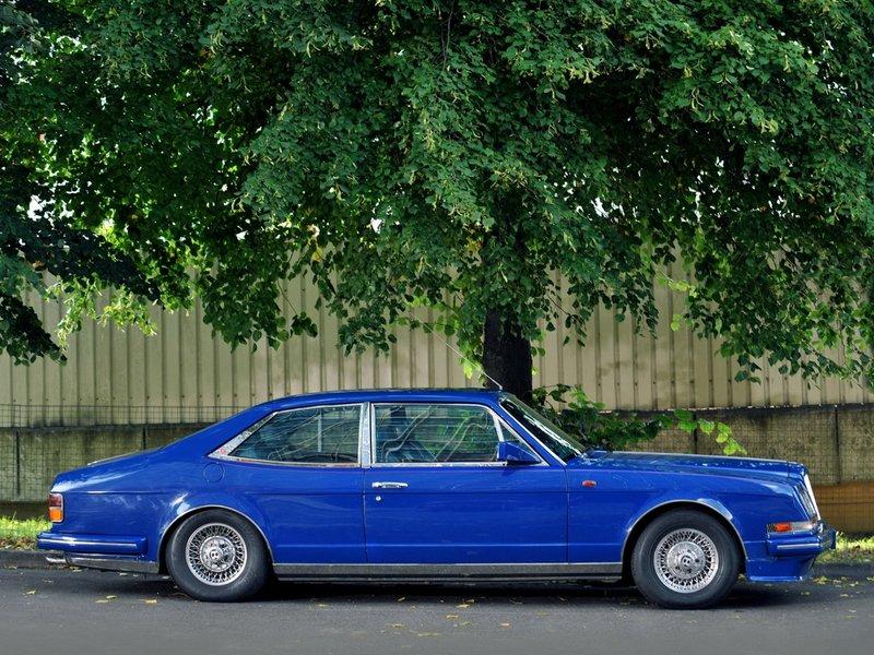 Bentley Синий Роскошные Сбоку 1988 Turbo R Empress II Sports Saloon Автомобили