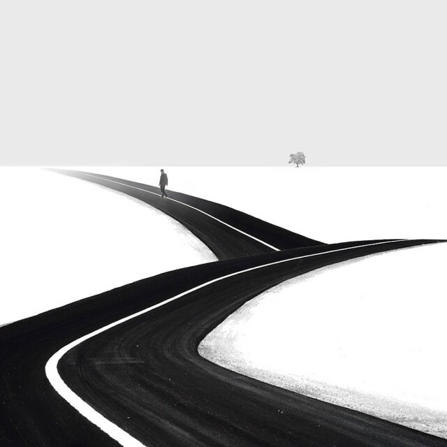 Черно-белый минимализм в фотографиях Хуссейна Заре