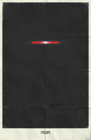 Cyclops. Минималистичный постер