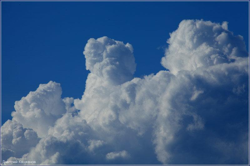 Фото красивых облаков на фоне синего неба