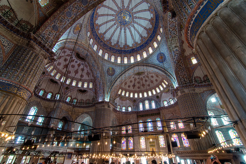 голубая-мечеть-стамбул-вид-изнутри