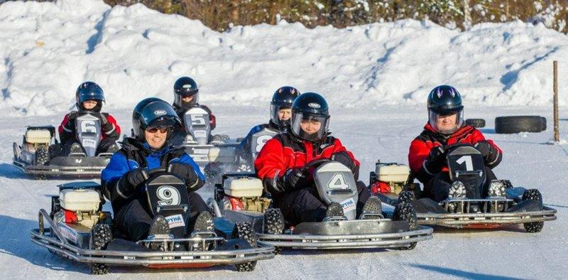Ледовый картинг в Финляндии