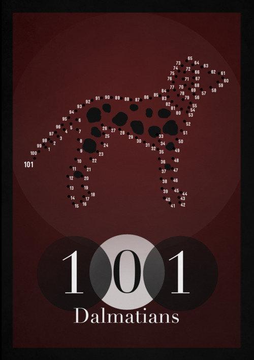 Минималистичный постер 101 долматинец