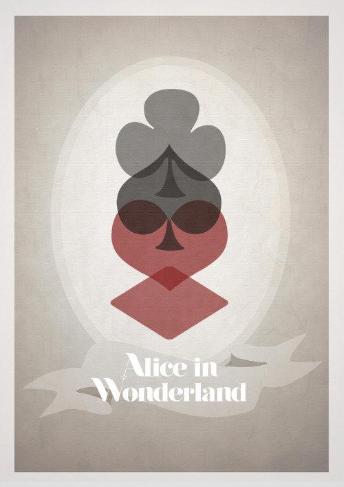 Минималистичный постер Алиса в стране чудес