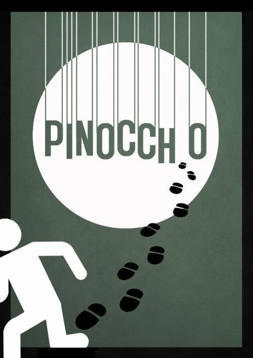 Минималистичный постер Пиноккио