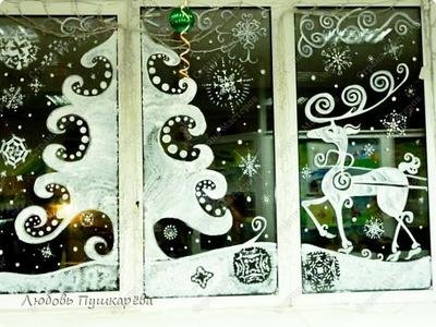 Новый год на окнах