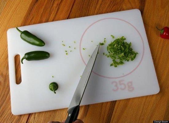 Разделочная доска-весы