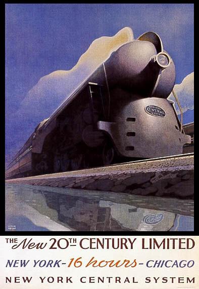 Реклама железных дорог. Постеры середины XX века
