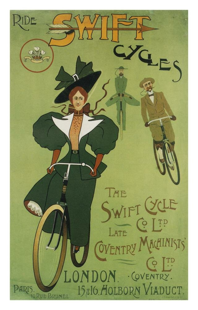 Ретро плакат Ride Swift Cycles
