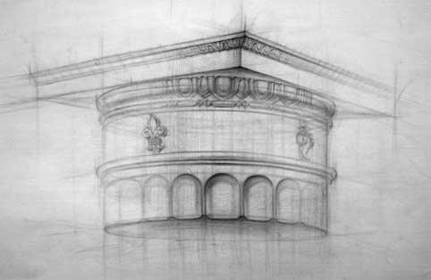 Рисование капители