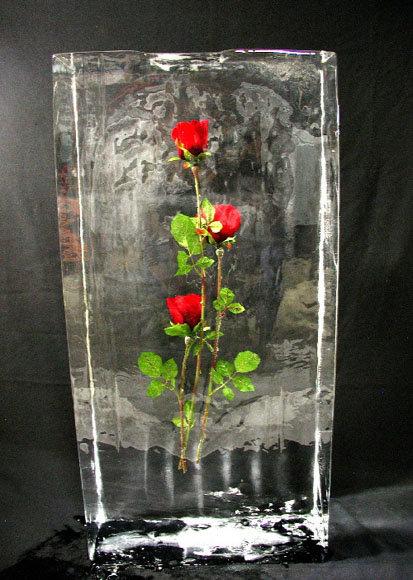 Розы во льду